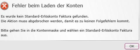Fehlermeldung beim Laden der Konten - ProSaldo.net
